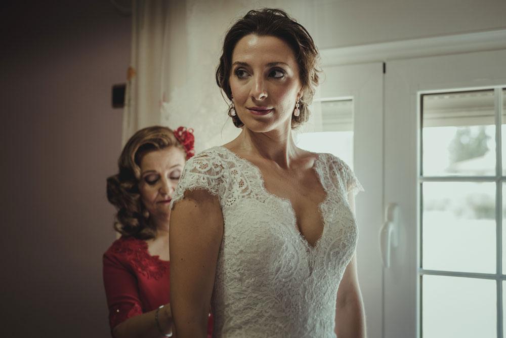 vestido de novia Pronovias Anabel Miguel Moba Fotografo de Bodas Granada