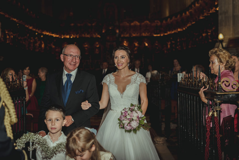 llegada de la novia Miguel Moba Fotografo de Bodas Granada